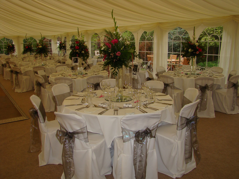 Chair covers balloons wedding and party decoration marquee weddings lincoln junglespirit Gallery